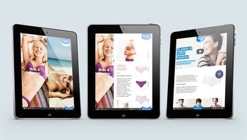 sloggi-Website: 3 Ansichten Tablet