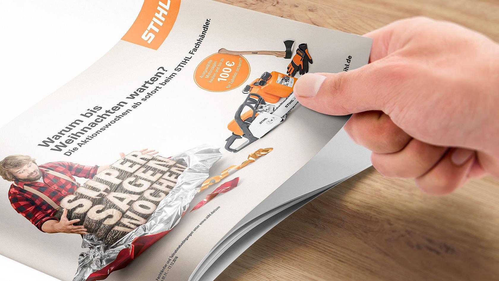 kommunikationskampagne für motorsägen | bloom
