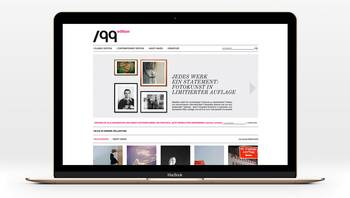 Bildschirmansicht der 99Edition Website